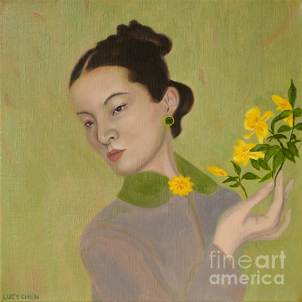 The Golden Kiss Of Spring Print by Lucy Chen
