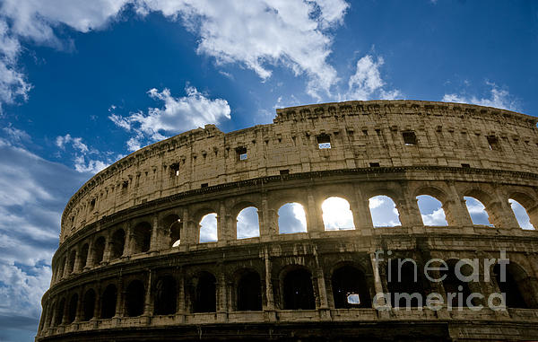 The Majestic Coliseum - Rome Print by Luciano Mortula