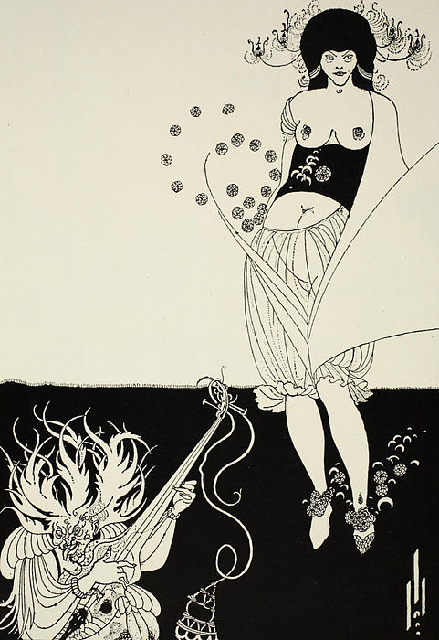 The Stomach Dance Print by Aubrey Beardsley