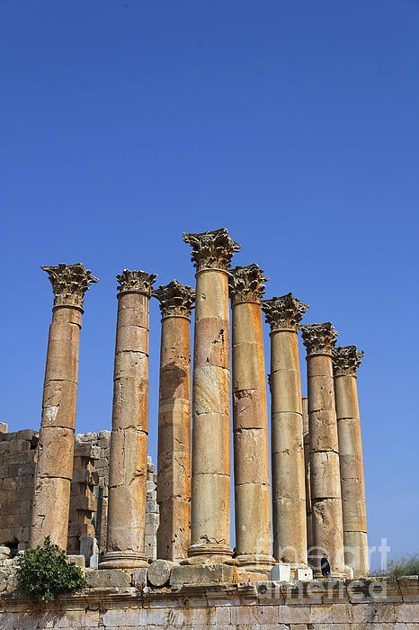 The Temple Of Artemis At Jerash Jordan Print by Robert Preston