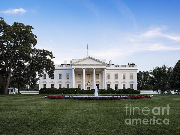The White House Print by John Greim