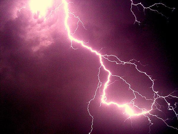 Thunderbolt Print by Salman Ravish