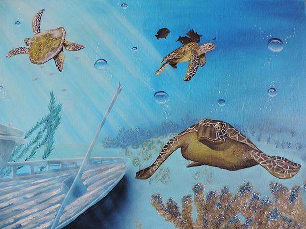 Dianna Lewis - Turtles at Sea