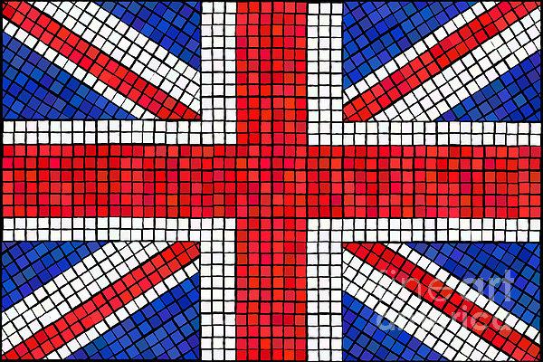 Union Jack Mosaic Print by Jane Rix