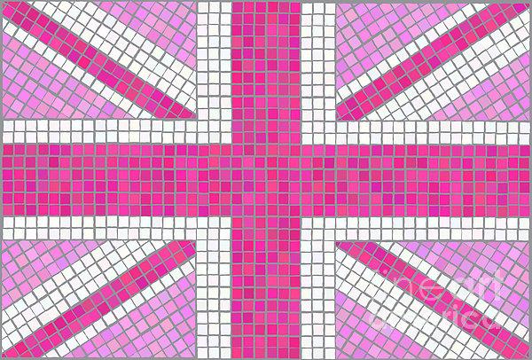 Union Jack Pink Print by Jane Rix