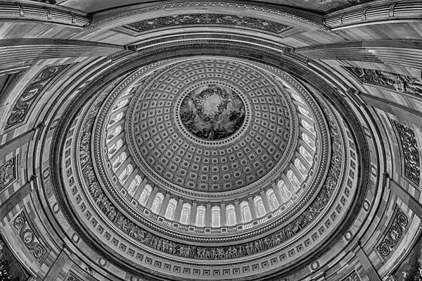 Us Capitol Rotunda Print by Susan Candelario