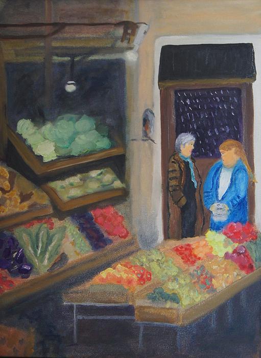 Venice Fruit Market Print by Kristine Bogdanovich