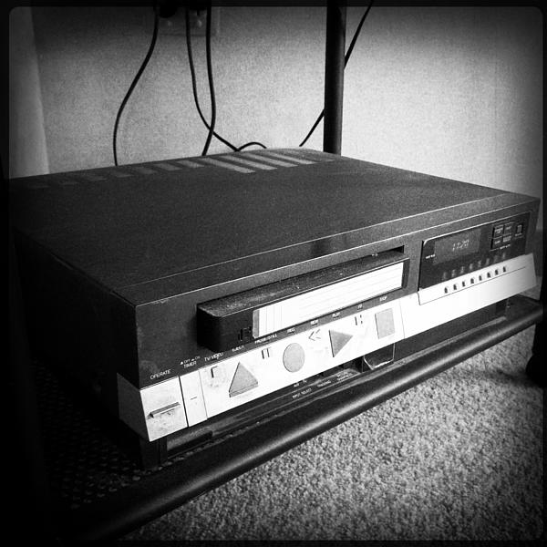 Video Recorder Print by Les Cunliffe