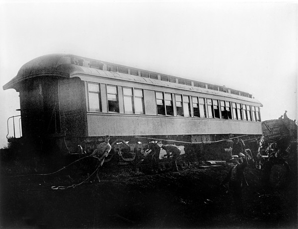 View Of The Great Railroad Wreck Print by Everett