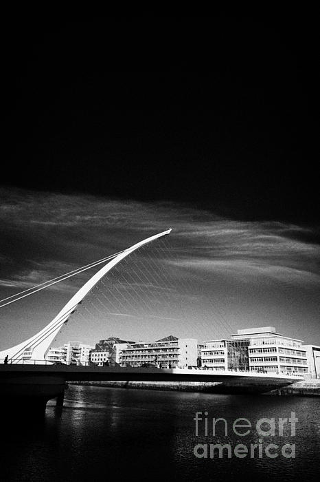 View Of The Samuel Beckett Bridge Over The River Liffey Dublin Republic Of Ireland Print by Joe Fox