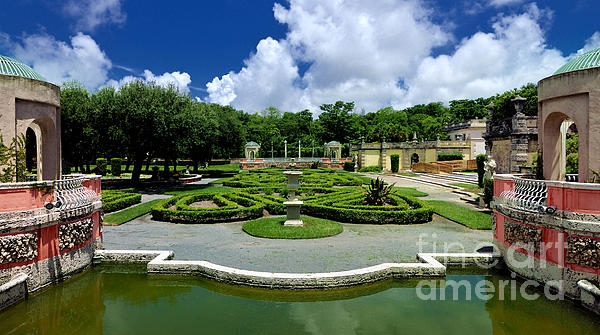 Vizcaya Museum And Gardens Biscayne Bay Miami  Florida Print by Amy Cicconi