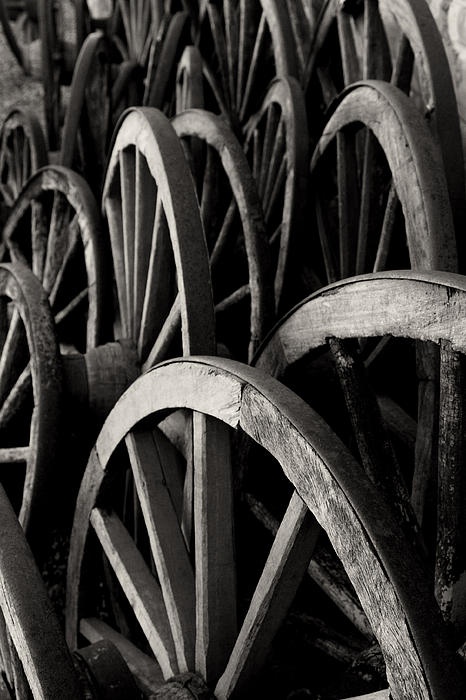 Wagon Wheels Print by John Nelson