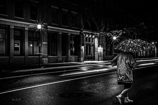 Walking In The Rain Print by Bob Orsillo