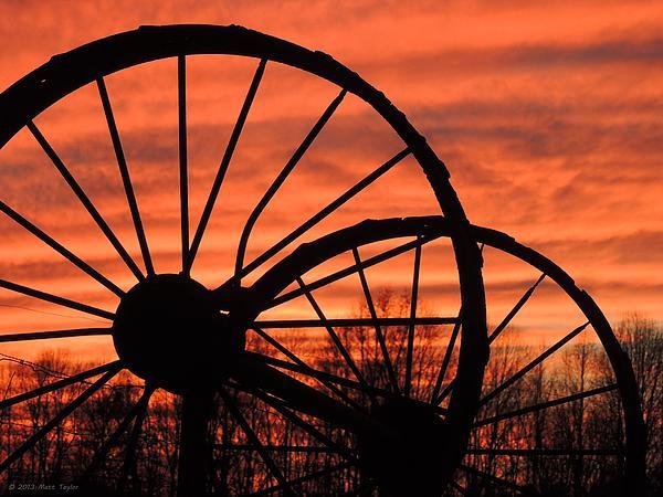 Wheel-n-axle Sunset.. Print by Matt Taylor