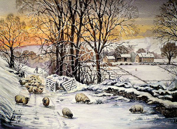 Winter In The Ribble Valley  Print by Andrew Read