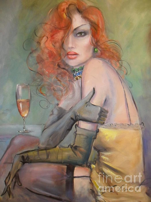 Fatima Tomaeva-Gabellini - Woman With Red Hair