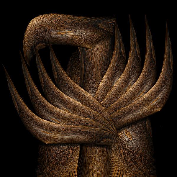 Wooden Bird Print by Christopher Gaston
