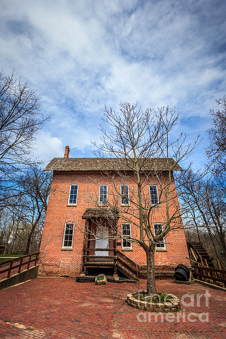 Wood's Grist Mill In Deep River County Park Print by Paul Velgos