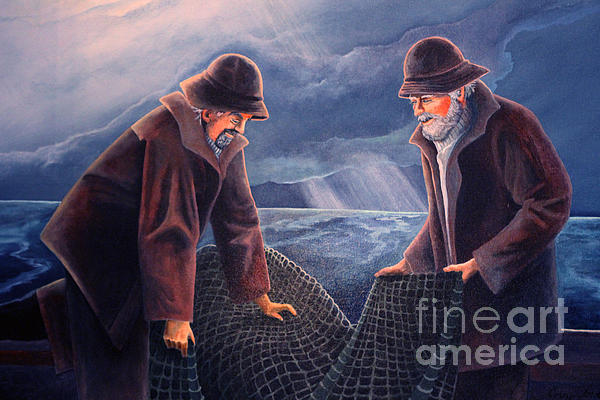 Working The Nets Print by Corey Ford