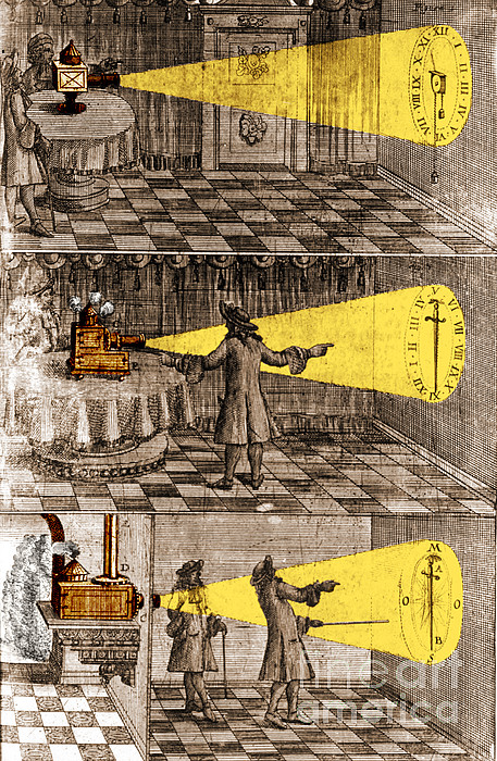 Zahn Light Projection Apparatus 1685 Print by Science Source