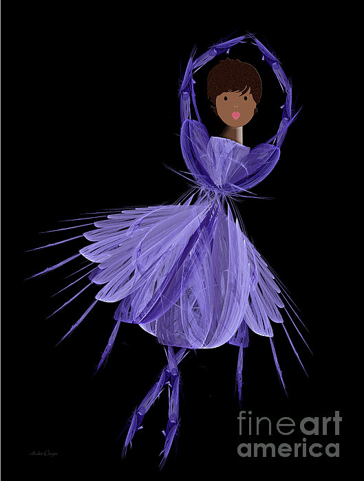 10 Blue Ballerina Print by Andee Design