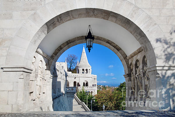 Fisherman's Bastion In Budapest Print by Michal Bednarek