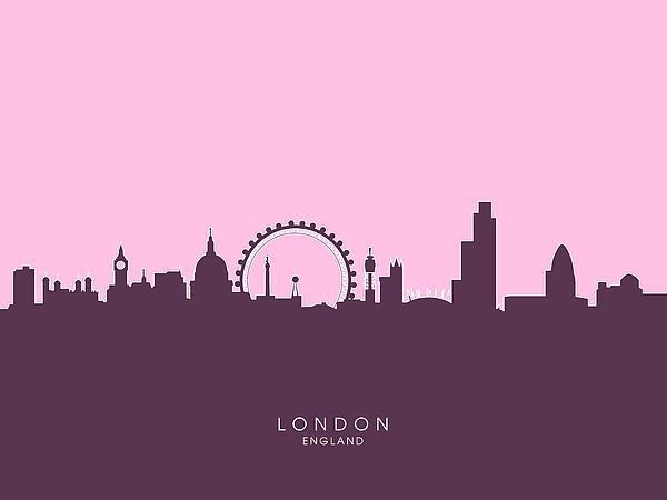 London England Skyline Print by Michael Tompsett