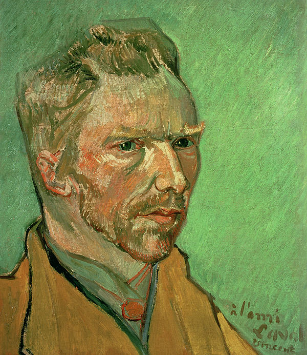 Self Portrait Print by Vincent Van Gogh