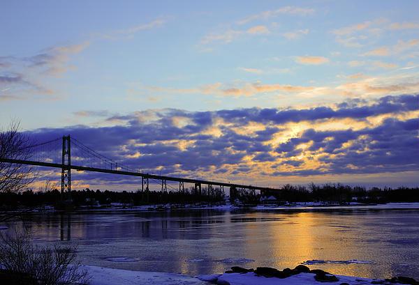 1000 Island Bridge Sunrise Print by David Simons