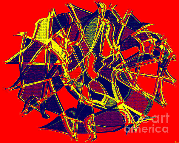 1010 Abstract Thought Print by Chowdary V Arikatla