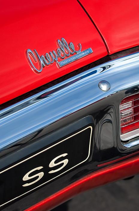 1970 Chevrolet Chevelle Ss Taillight Emblem Print by Jill Reger