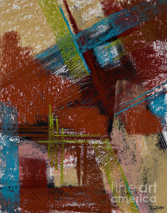 On The Diagonal Print by Tracy L Teeter