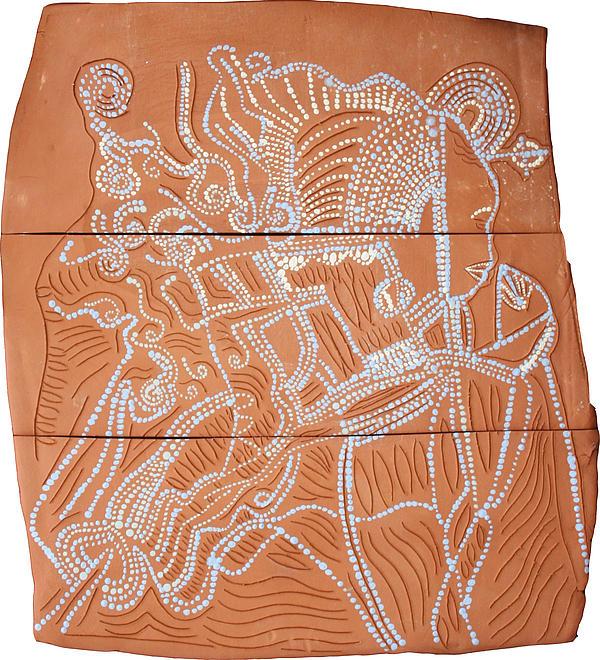 Bikira Maria Print by Gloria Ssali