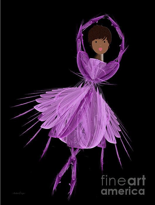 11 Purple Ballerina Print by Andee Design