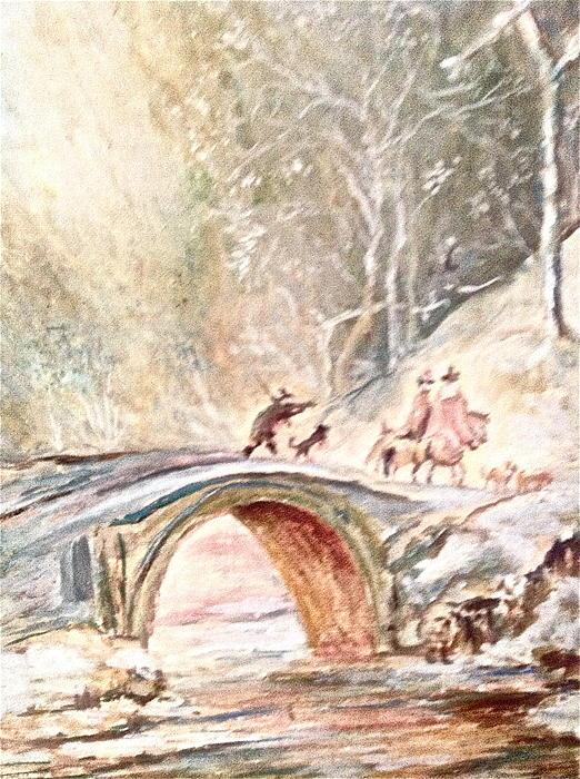 Winter Landscape Print by Egidio Graziani