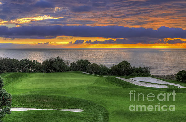 11th Green - Trump National Golf Course Print by Eddie Yerkish