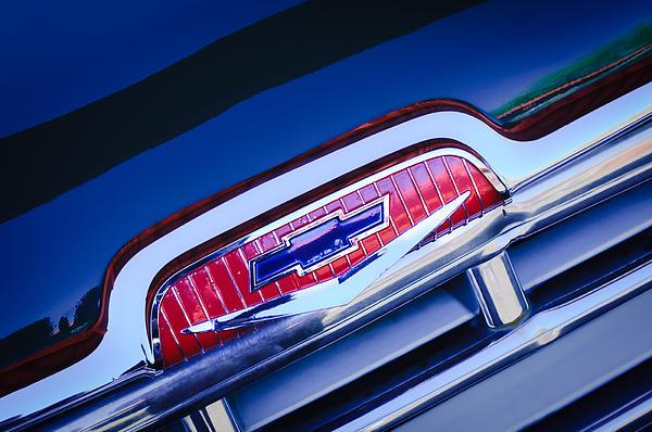 Chevrolet Grille Emblem Print by Jill Reger