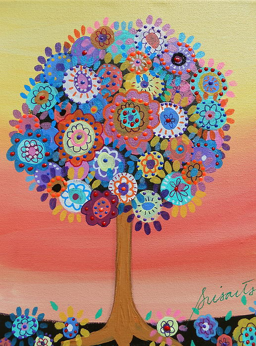 Tree Of Life Print by Pristine Cartera Turkus