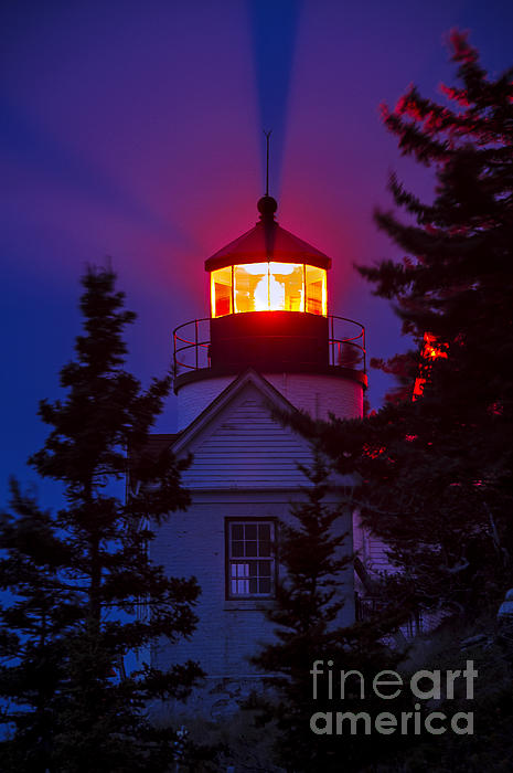 Bass Harbor Lighthouse Print by John Greim