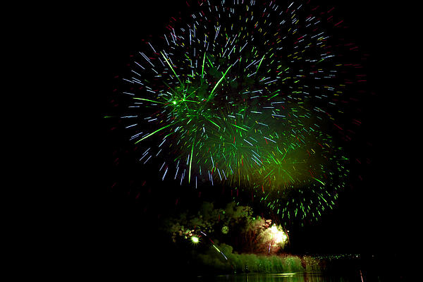 Fireworks Display Print by Michel Rathwell