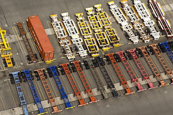 Port Of Tacoma, Tacoma Print by Andrew Buchanan/SLP