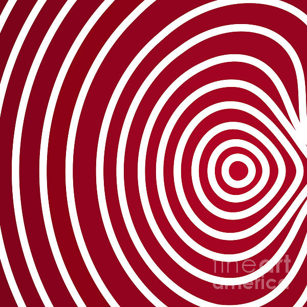 Red Abstract Print by Frank Tschakert