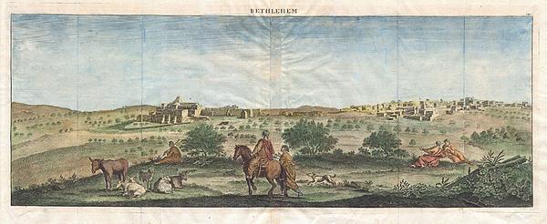 1698 De Bruijin View Of Bethlehem Palestine Israel Holy Land Geographicus Bethlehem Bruijn 1698 Print by MotionAge Designs