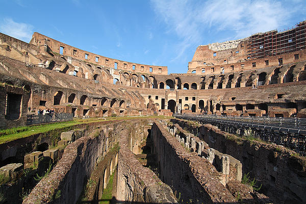 Colosseum In Rome Print by George Atsametakis