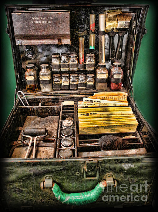 1800's Fingerprint Kit Print by Lee Dos Santos