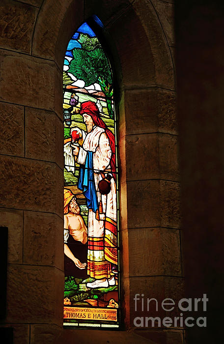 1865 - St. Jude's Church  - Stained Glass Window Print by Kaye Menner