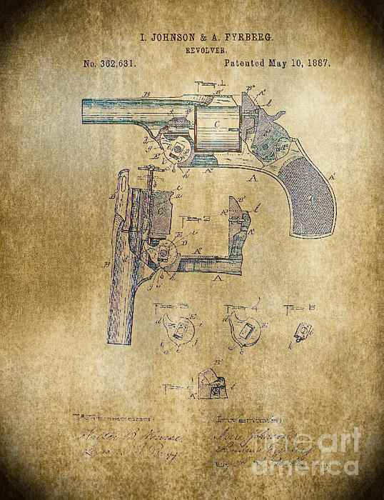 1887 Revolver Print by Steven Parker