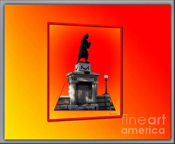 1898 Firemen Memorial Print by Thomas Woolworth