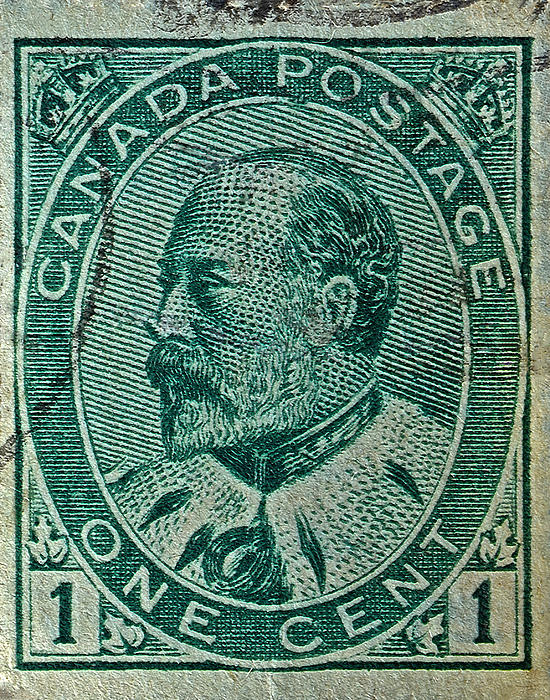 1903-1908 King Edward Vii Canadian Stamp Print by Bill Owen