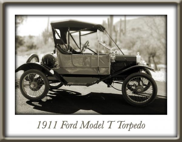 1911 Ford Model T Torpedo Print by Jill Reger